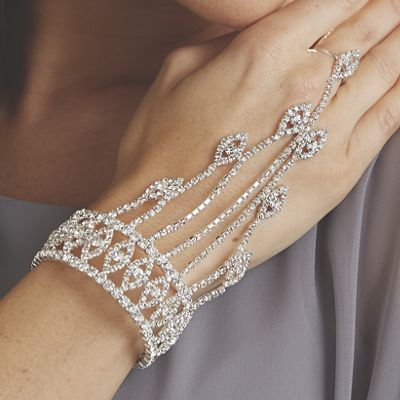 Crystal/Flexible Cuff Hand Jewelry