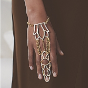 vintage crystal finger hand jewelry