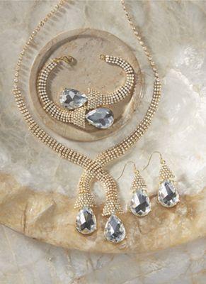 Crystal Pear Jewelry