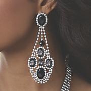 Crystal Jewelry Glam Earrings