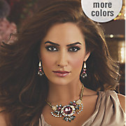 burgundy  gray   clear crystal jewelry