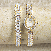 cubic zirconia watch   bracelet set