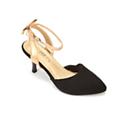 Gold Bow Back Shoe by Midnight Velvet