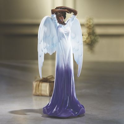 Purple Angel Figurine