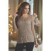 sequin crochet sweater