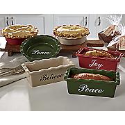 set of 3 mini holiday baking pans