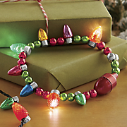 set of 2 flashing holiday necklace and braclet