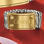 name two tone screwhead stretch ring