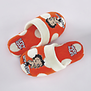 Betty Boop Red Polka-Dot Slippers