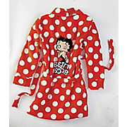 betty boop red polka dot robe