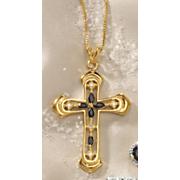Sapphire Cross Pendant