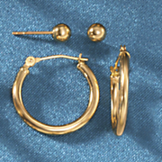 gold post hoop set