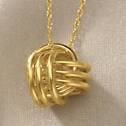 gold knot pendant