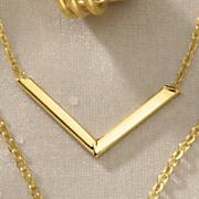 gold v pendant