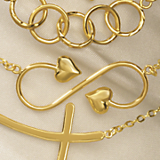 14k gold eternity heart pendant