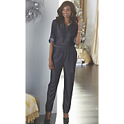 denim look jumpsuit by steve harvey