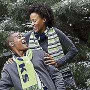 nfl glitter stripe scarf