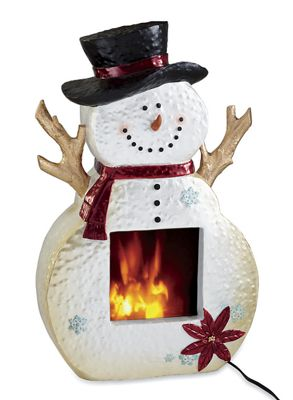 Snowman Electric Fireplace