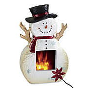 Snowman Electric Fireplace