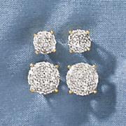 round cluster post earrings 48