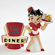 betty boop diner salt and pepper shakers