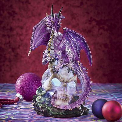 Purple Dragon with Light-Up Skull