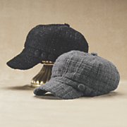 boucle newsboy hat