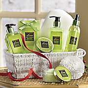 lime   coconut scented bath set