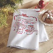 fat christmas dishtowel