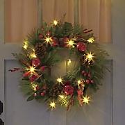 Apple Berry Checker Lit Wreath