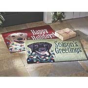 holiday dog mat