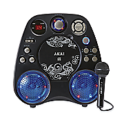 cd g karaoke machine with built in speakers and light effects by akai