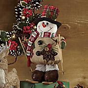 Christmas Plush Snowman Skier
