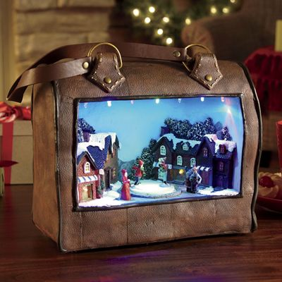 Musical Christmas Satchel with Skaters