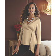 Side-Tie Peplum Blouse