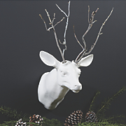 Add-A-Branch Mounted Deer Head