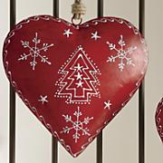 Set of 3 Metal Hearts