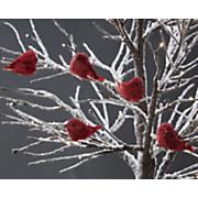 set of 5 clip on birds