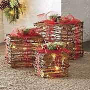 Set of 3 Lighted Decorative Gifts