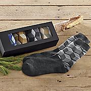 5 pair geometric sock set