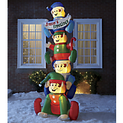 inflatable stacked elves