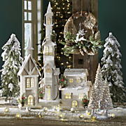snow village led houses