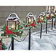10 pc  lighted lantern stakes