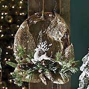 Burlap and Reindeer Wreath