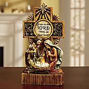 lighted christmas cross