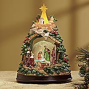 musical nativity snowglobe