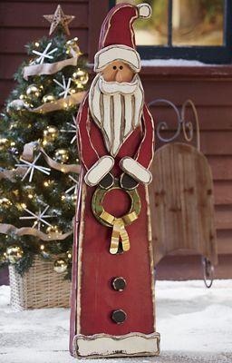 Standing Wood Santa