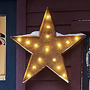 led metal star