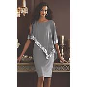 Clarice Sequin Cape Dress