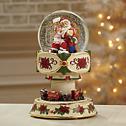Santa and Train Snowglobe